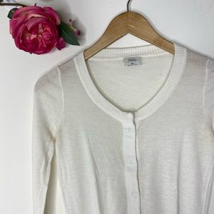 Madewell Wallace Snap Button Ivory Cardigan
